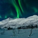 Северное сияние в Тромсо, Норвегия